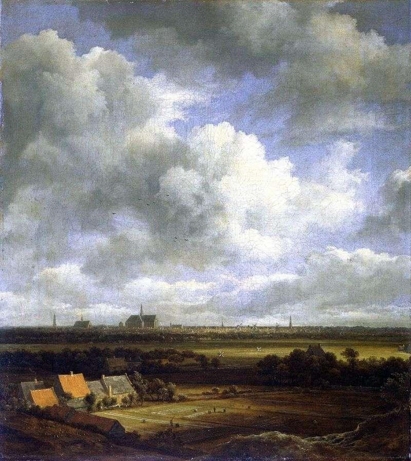 Вид Харлема з полями   Якоб ван Рейсдал