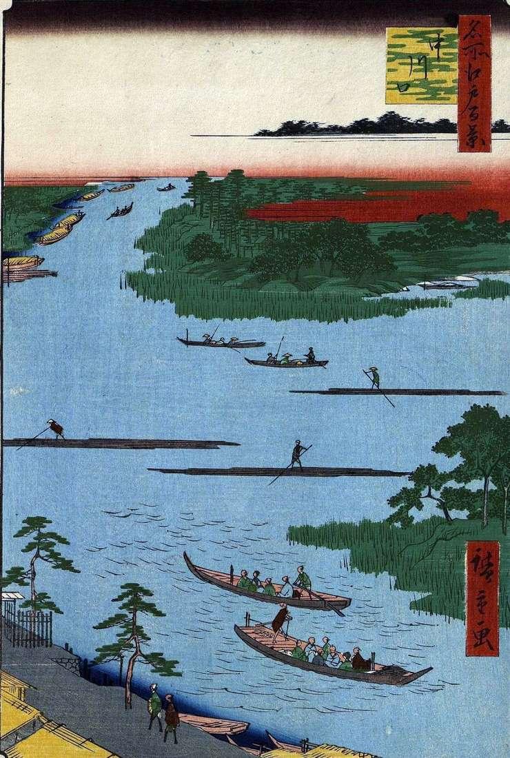 Гирло річки Накагава   Утагава Хиросигэ