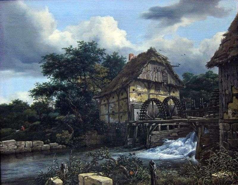 Два водяні млини   Якоб ван Рейсдал