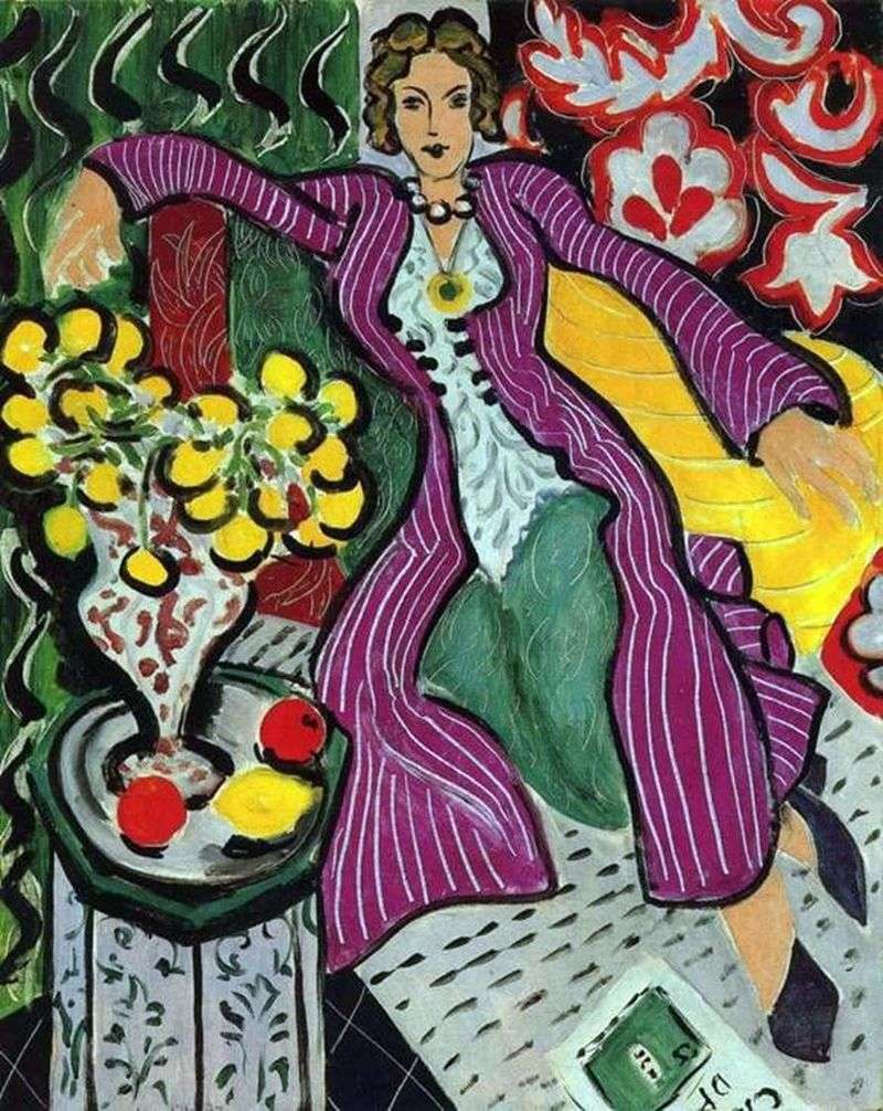 Жінка в фіолетовому пальто   Анрі Матісс