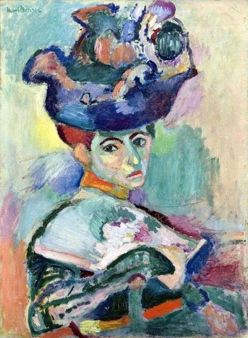 Жінка в капелюсі   Анрі Матісс