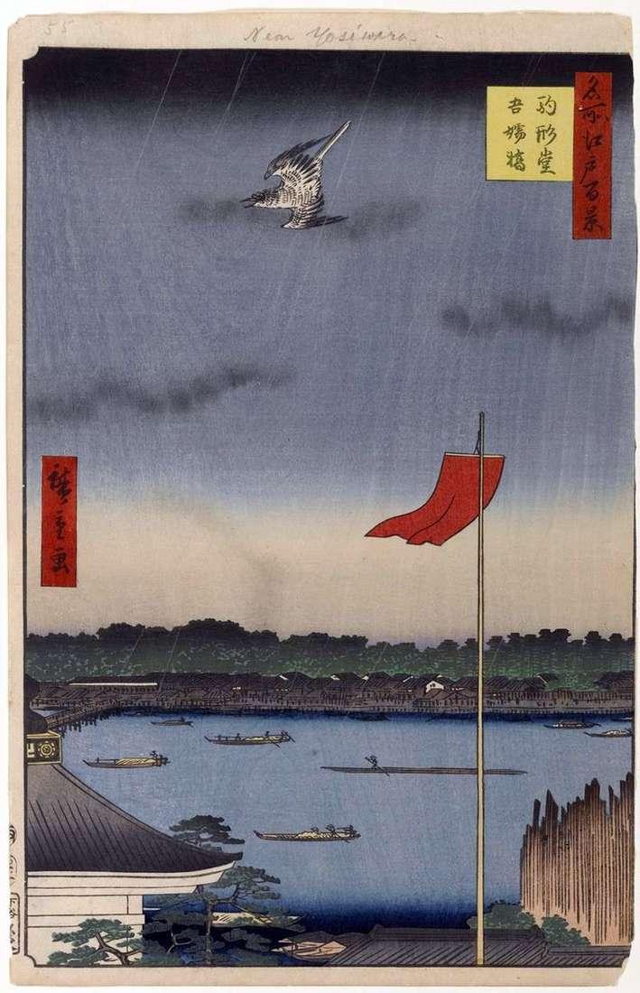 Храм Комакатадо і міст Адзумабаси   Утагава Хиросигэ