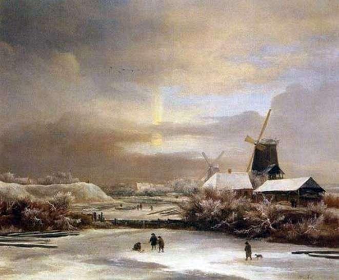 Зимові сцени   Якоб ван Рейсдал