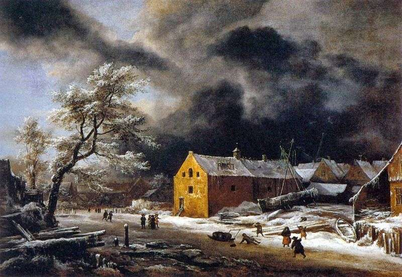 Зимовий вечір   Якоб ван Рейсдал