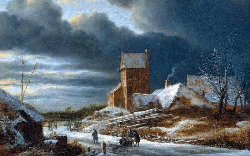 Зимовий пейзаж   Якоб ван Рейсдал