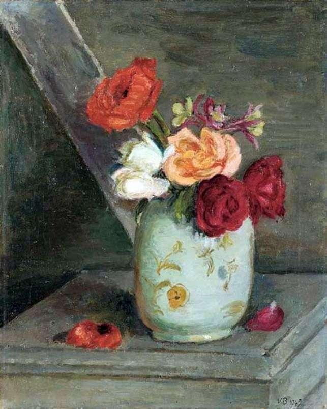 Троянди в китайській вазі   Ванесса Белл