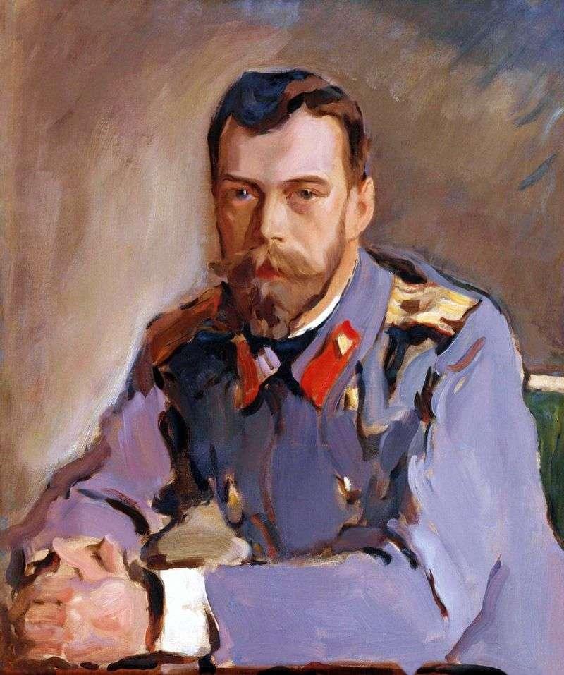 Портрет імператора Миколи II   Валентин Сєров