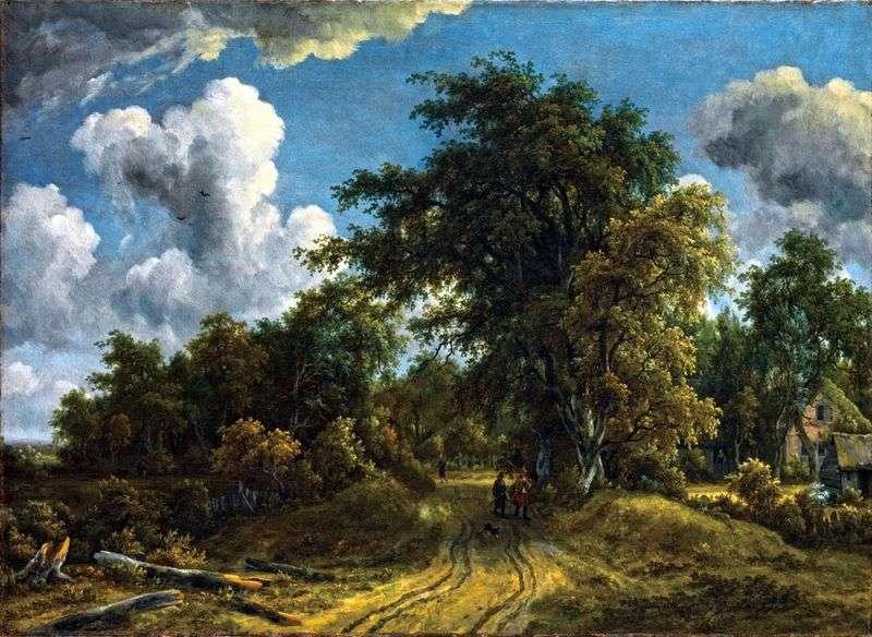 Дорога в лісі   Мейндерт Хоббема