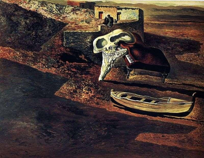Зниклий череп содомізує рояль на коді   Сальвадор Далі
