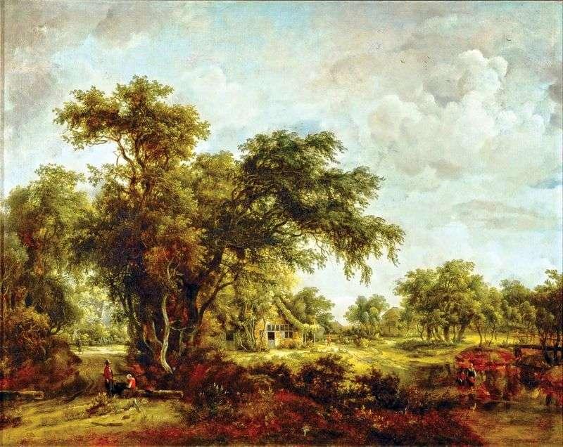 Пейзаж з фермою   Мейндерт Хоббема