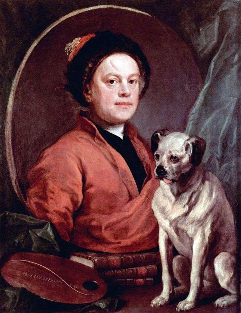 Автопортрет з собакою   Вільям Хогарт
