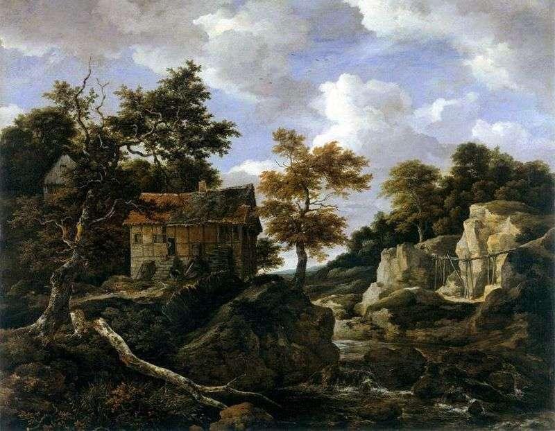 Пейзаж на заході   Якоб ван Рейсдал