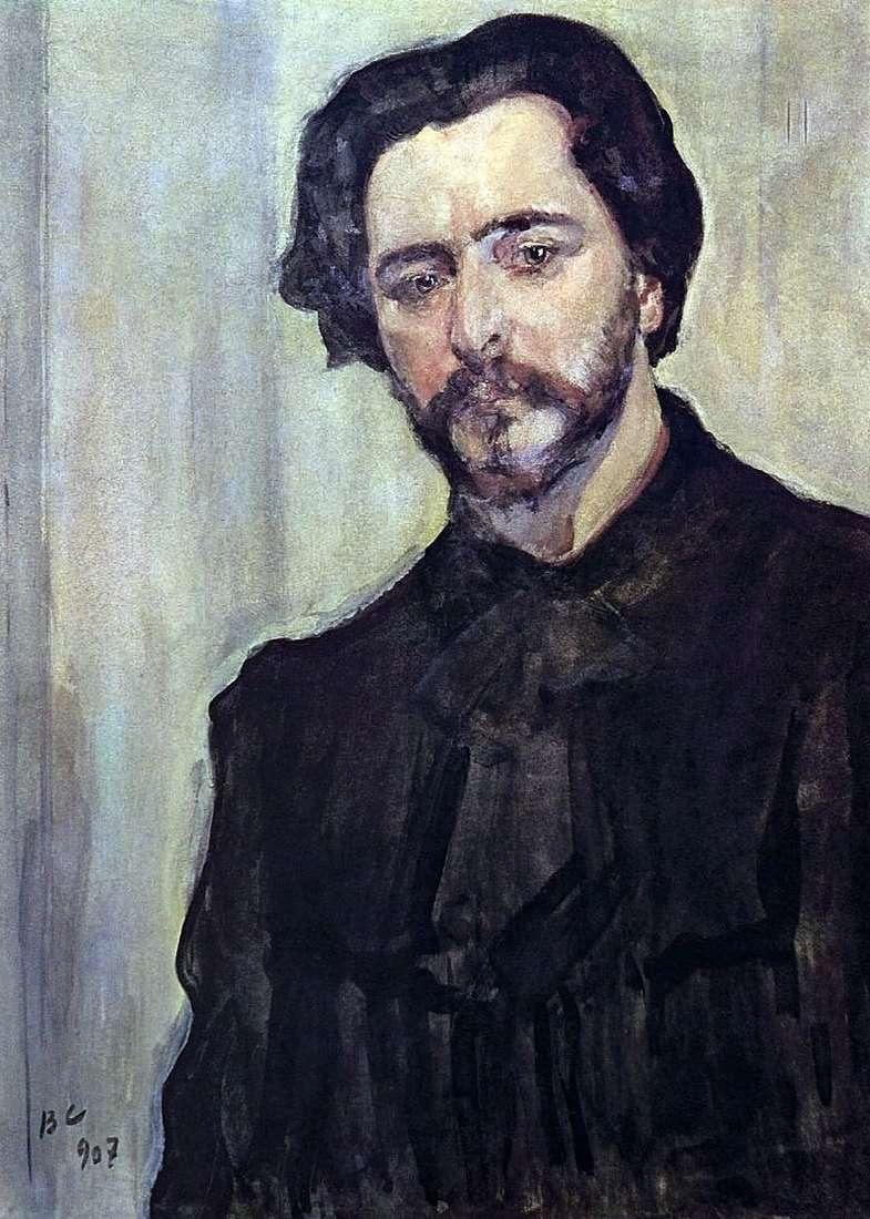 Портрет письменника Леоніда Андрєєва   Валентин Сєров