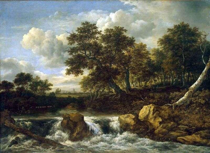Пейзаж з водоспадом   Якоб ван Рейсдал