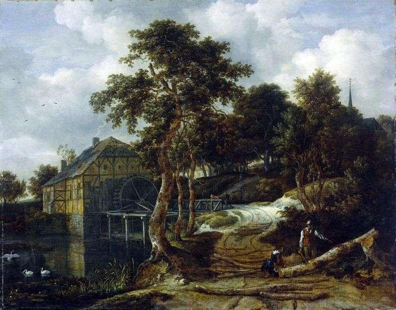 Пейзаж з млином   Якоб ван Рейсдал