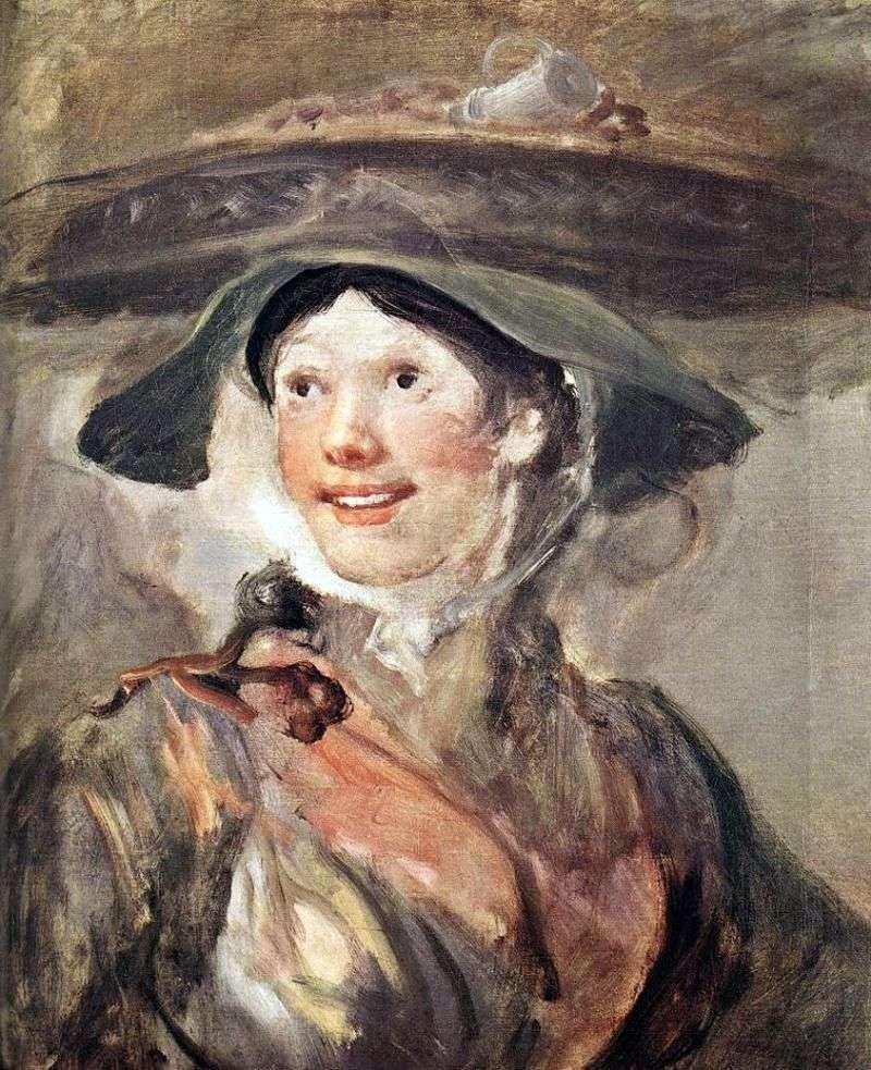 Дівчина з креветками   Вільям Хогарт