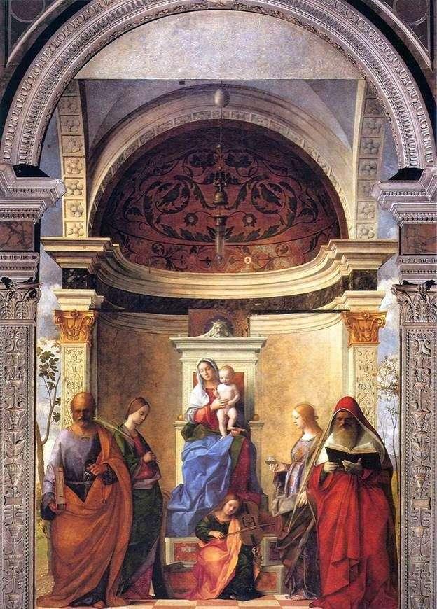 Мадонна з Немовлям і святими   Джованні Белліні