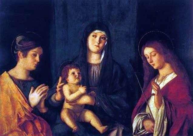 Мадонна з Немовлям, святою Катериною і святий Урсулою   Джованні Белліні