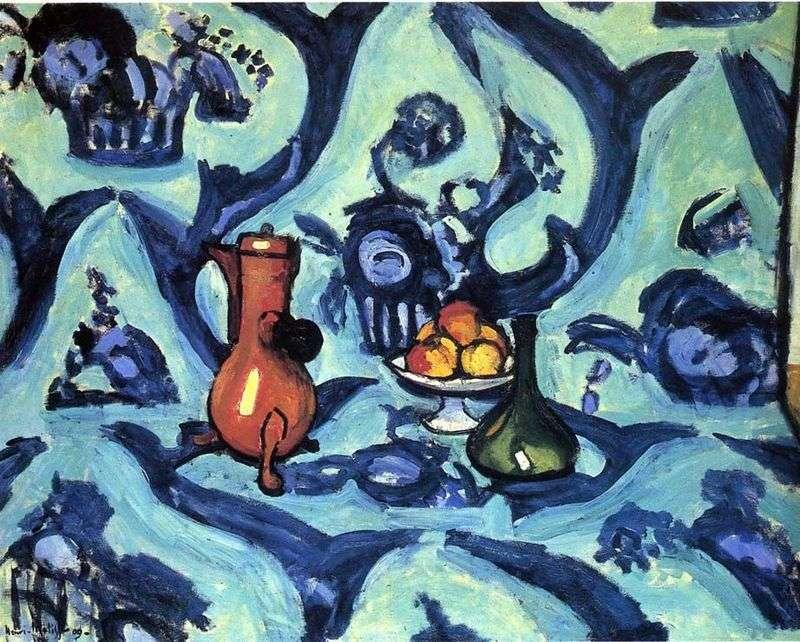 Натюрморт з блакитний скатертиною   Анрі Матісс