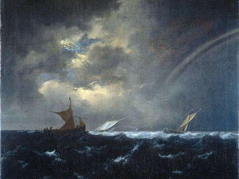 Веселка в штормовому морі   Якоб ван Рейсдал