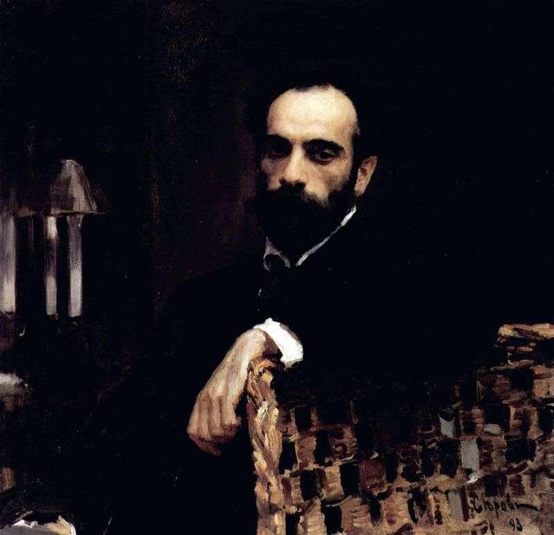 Портрет художника В. І. Левітана   Валентин Сєров