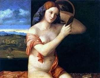 Молода жінка за туалетом   Джованні Белліні