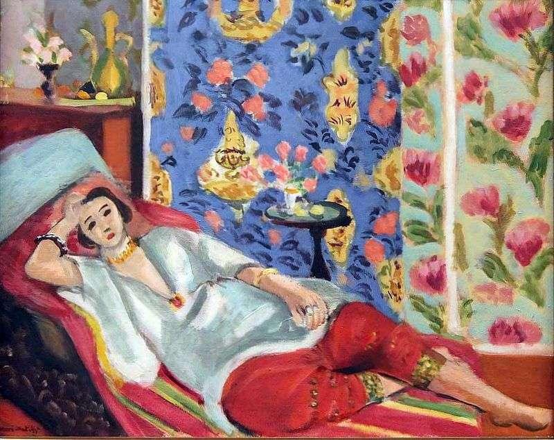 Одаліска в червоних шальварах   Анрі Матісс