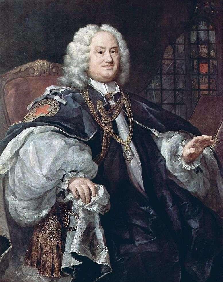 Портрет єпископа Хоудли   Вільям Хогарт