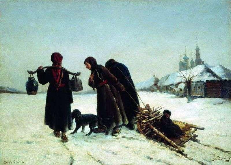 Взимку у селі   Олексій Корзухін