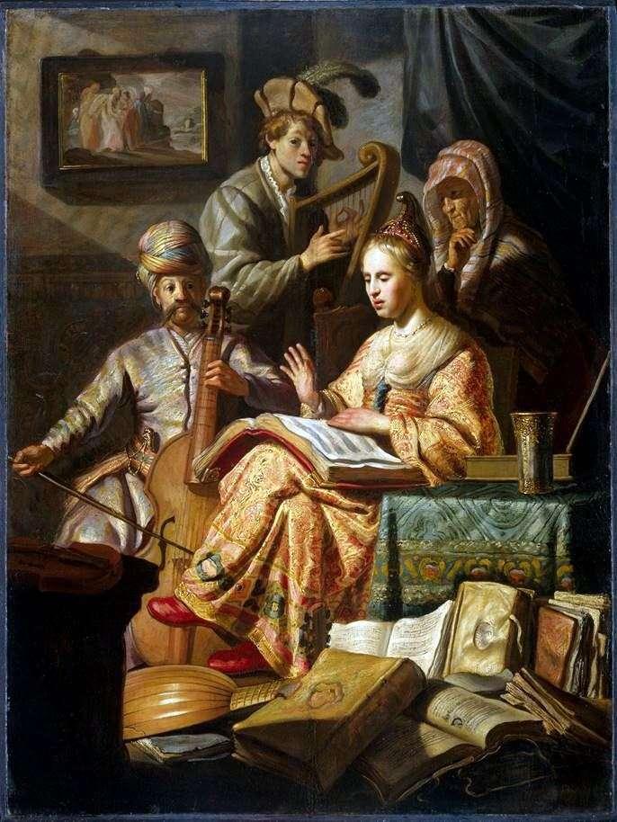 Алегорія музики   Рембрандт Харменс Ван Рейн