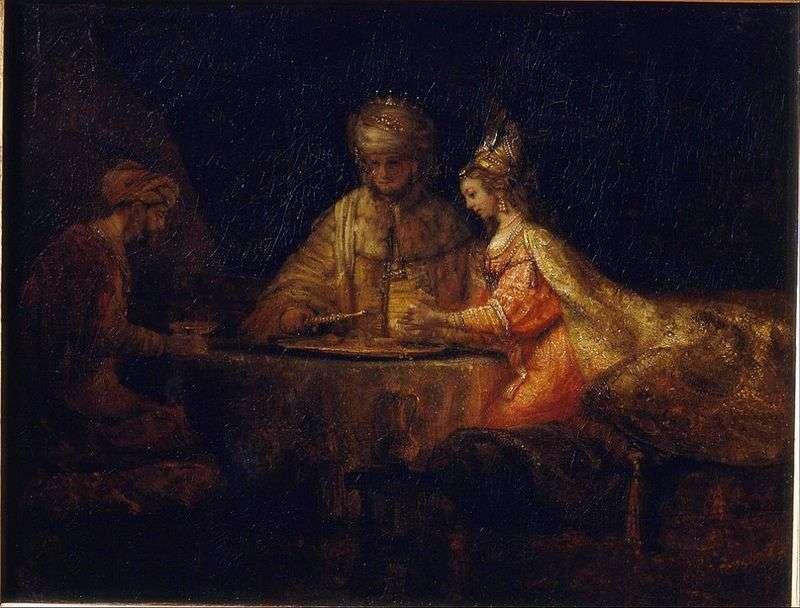 Артаксеркс, Аман і Есфір   Рембрандт Харменс Ван Рейн