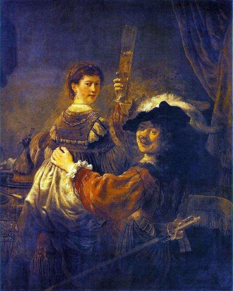 Веселе товариство (Автопортрет з Саскією на колінах)   Рембрандт Харменс Ван Рейн