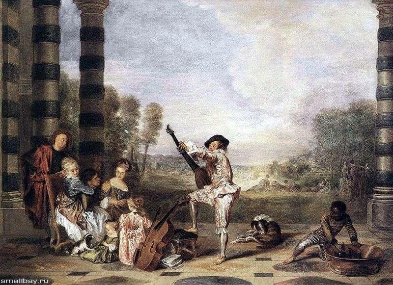 Музичне парті у літньому театрі   Жан Антуан Ватто