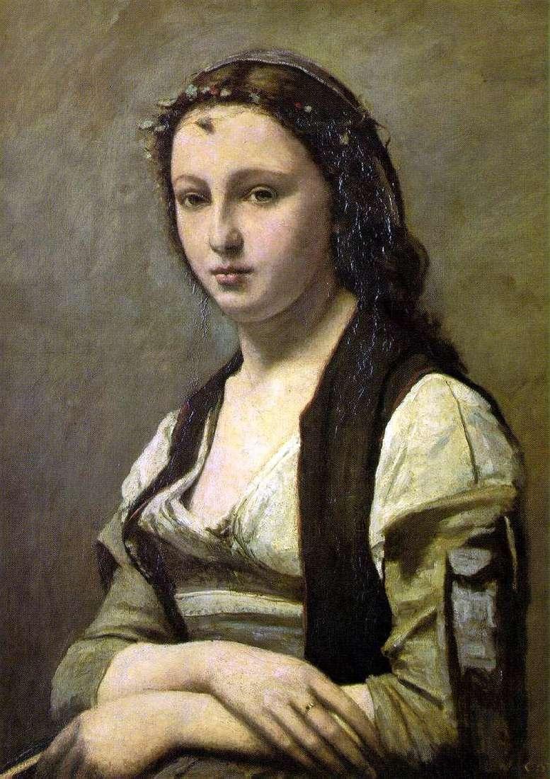 Жінка з перлиною   Каміль Коро