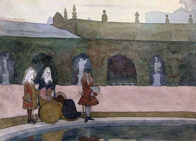 Версаль, Людовік XIV годує риб   Олександр Бенуа