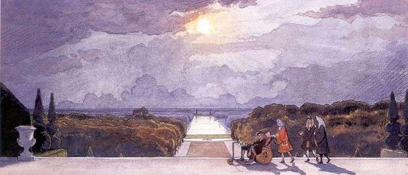 Версаль. Прогулянка короля   Олександр Бенуа