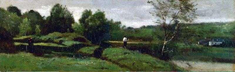 Пейзаж з хлопчиком у білій сорочці   Каміль Коро
