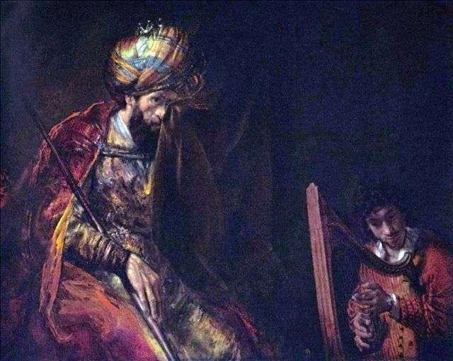 Давид грає царю Саулу   Рембрандт Харменс Ван Рейн
