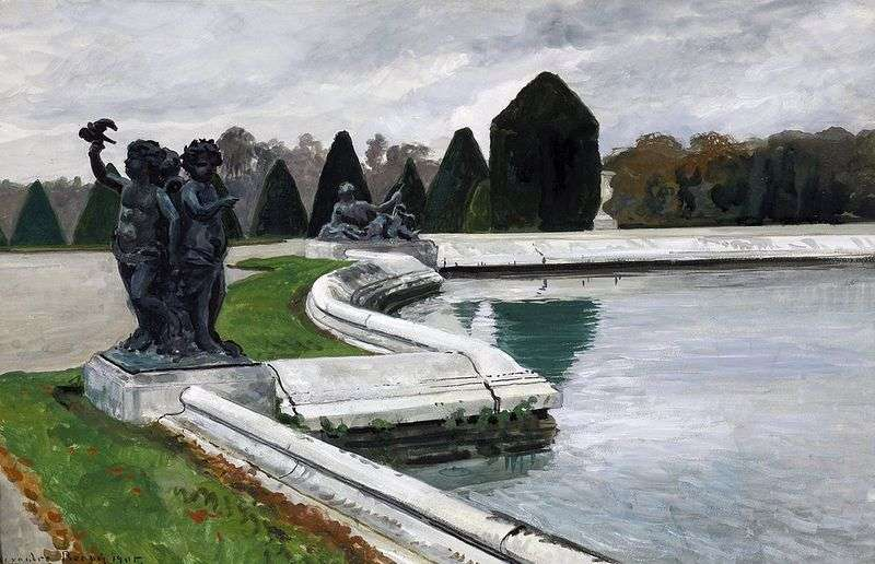 Водний партер у Версалі. Осінь   Олександр Бенуа