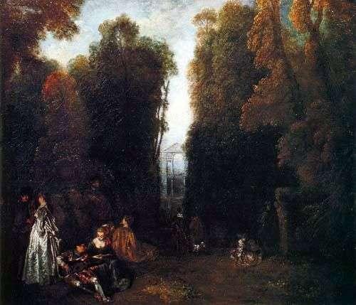 Перспектива Романтичне оточення   Жан Антуан Ватто