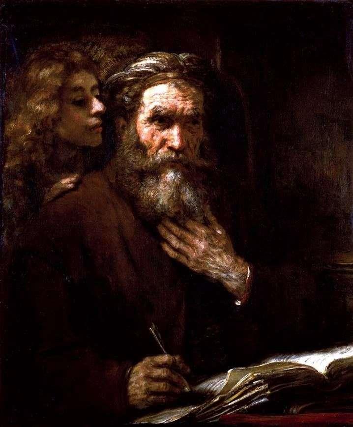 Євангеліст Матфей і ангел   Рембрандт Харменс Ван Рейн
