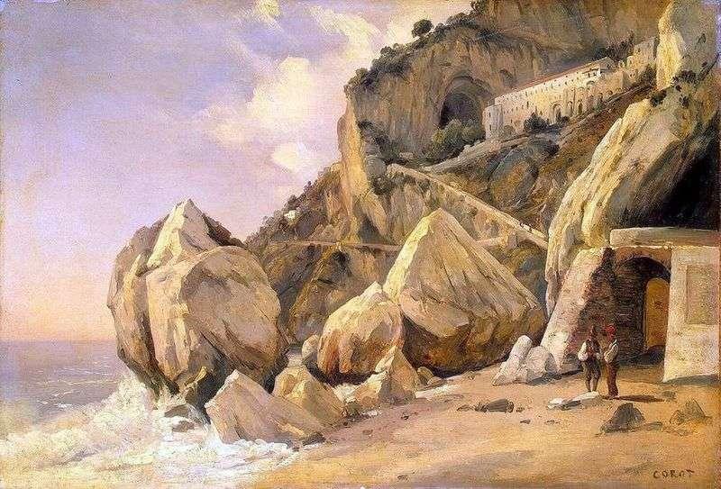 Скелі в Амальфі   Каміль Коро