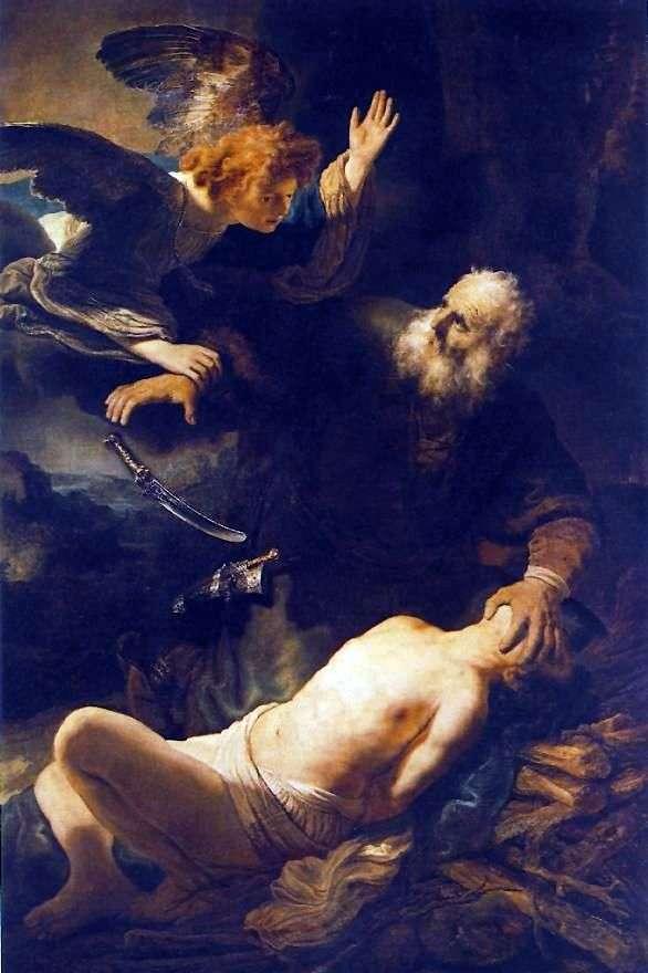 Жертвоприношення Авраама   Рембрандт Харменс Ван Рейн