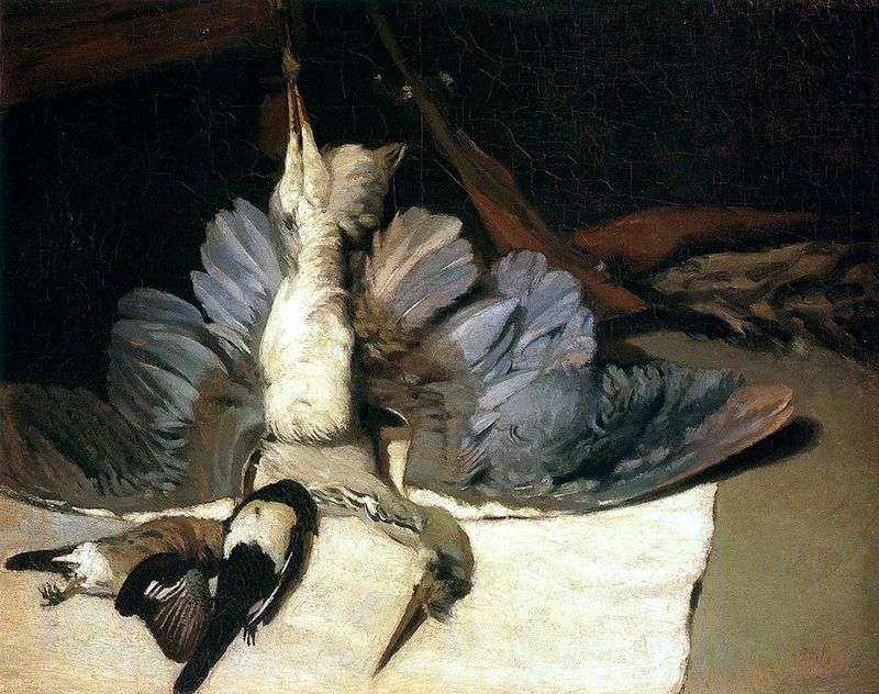 Натюрморт з чаплею   Альфред Сіслей
