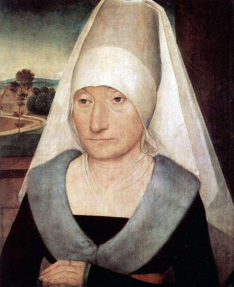 Портрет літньої жінки   Ханс Мемлінг