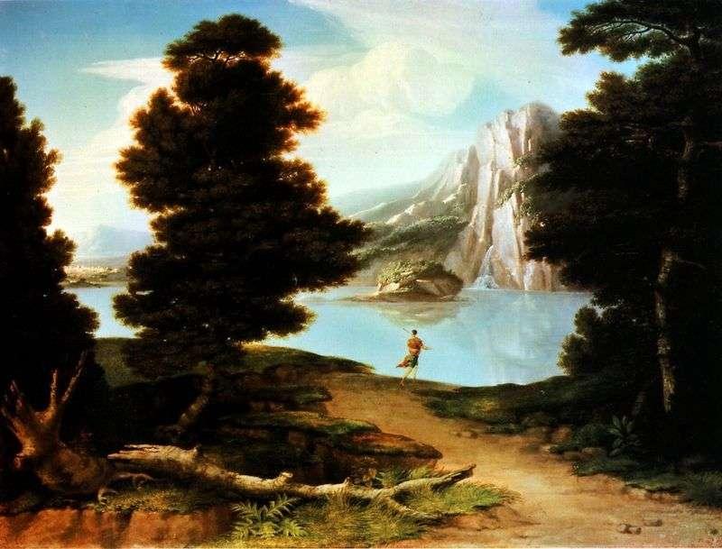 Пейзаж з озером   Олстон Вашингтон