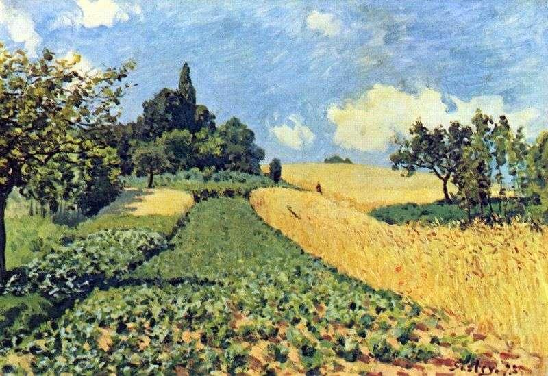 Пшеничні поля в Аржентее   Альфред Сіслей