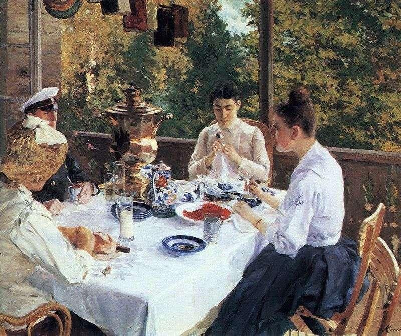 За чайним столом   Костянтин Коровін