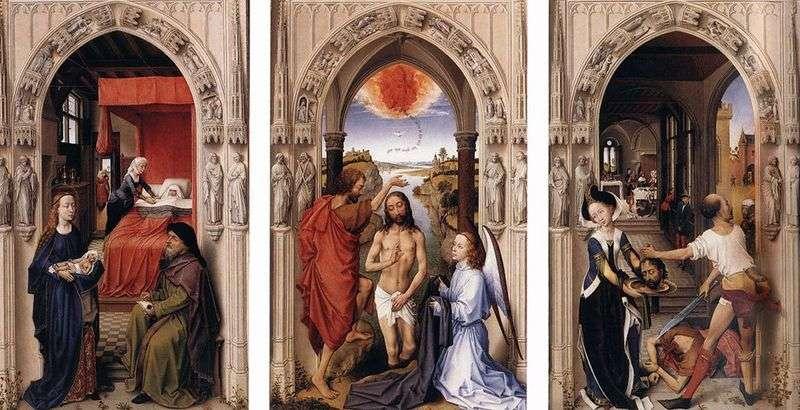 Вівтар святого Іоанна Хрестителя   Рогир ван дер Вейден