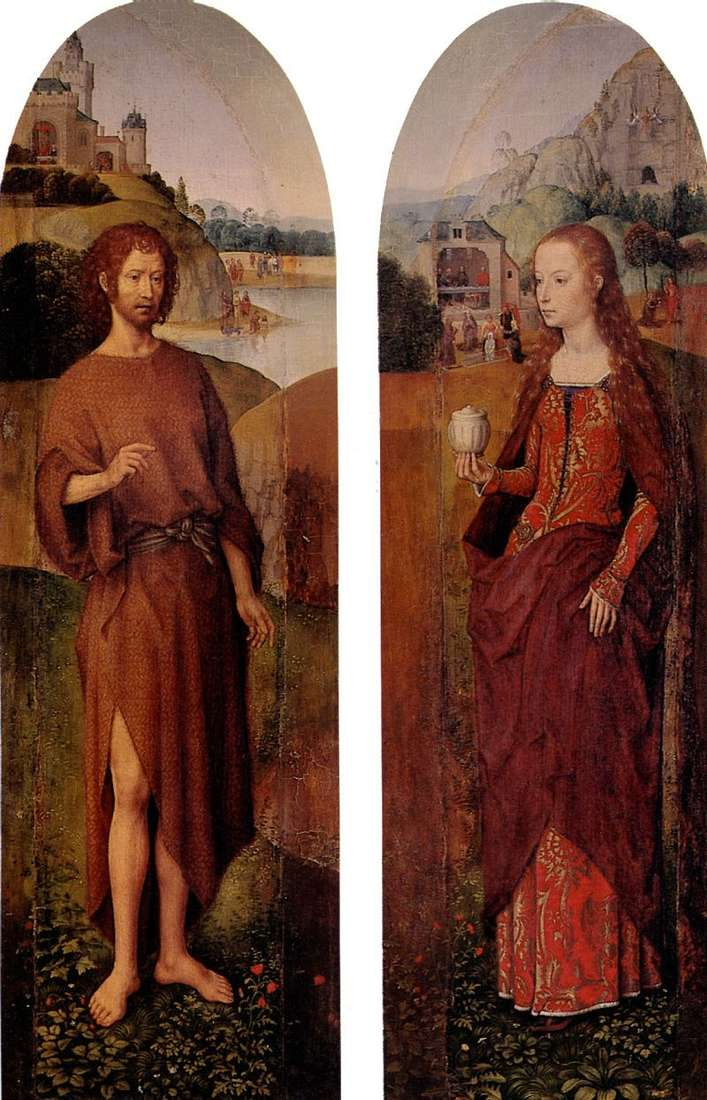 Святий Йоан Хреститель свята Марія Магдалина. Бічні стулки із триптиха   Ганс Мемлінг